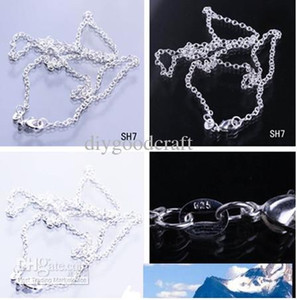 Free Shipping Lots 26'' 925 Silver Plated Jewelry Necklace Link O Style Curb Chain With Lobster Clasp Fit Charm Pendant SH7-26inch*50