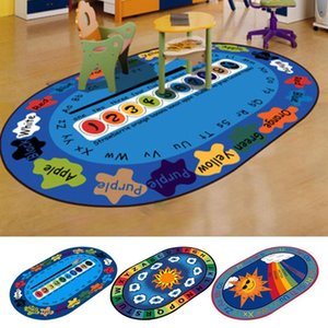 Quarto Educação Kindergarten Oval Carpet dos desenhos animados lavável Infantil Sala Quarto Estudo Computer Chair Carpet