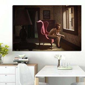 Холст картины Edward Hopper Стена Картины Плакат Реализм Картины Отпечатки Женщина Home Decor Nordic для гостиной Модульная рама