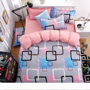 설정 킹 또는 퀸 사이즈 침구 세트 침대 시트 4 개 보혜사 럭셔리 침대 이불은 침대 덮개 세트