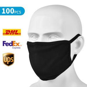 Baumwollnette Mund Gesicht Mundschutz-Maske waschbare, wiederverwendbare Baumwoll Bequemer Breathable Outdoor-Mode-Gesicht Umzäunungen Mann und Frau