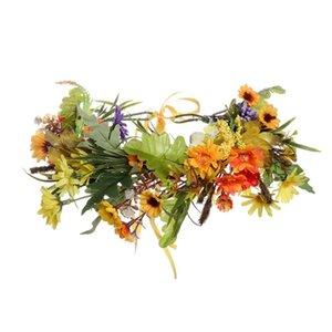 Haimeikang New Summer Women Bezel Flower Crown For Bridal Floral Headband Wreath Wedding Hair Accessories Bridesmaid Tiara