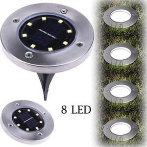 Lamba 8 Yeraltı LED Işık Zemin Açık Işık Yolu Yolu Bahçe Çim Courtyard Peyzaj Dekorasyon Lambası IIA269 Gömülü Güneş Enerjisi