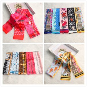 Fashion men and women of the same style ribbon small silk scarves luxury best0799