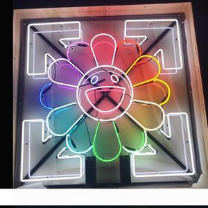 قوانغتشو مصنع مخصص موراكامي تاكانورى الشمس ابتسامة الوجه لافتات النيون البيرة بار حانة حزب مخزن المنزل غرف ديكور الحائط 50 50CM *