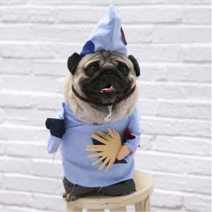 2020 Hottest Pet Supplies Riding Costume Wealth Funny Standing Costume Christmas Halloween Cat Upright Morphing Costume