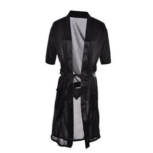 Sexy SILK Kimono Dressing Gown Bath Robe Babydoll Lingerie Nightdress Long Red White Black Wholesale