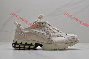 Nike Stussy Аутентичные воздушные увеличить Спиридон клетку 2 Стуса ископаемых PURE PLATINUM Женщины Мужчины моды кроссовок кроссовки xshfbcl 36-45