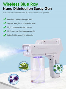 Wireless automizing sterilizer blue ray anion hair nano spray gun for disinfectant and alcohol spraying