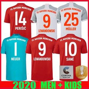 20 21 Bayern Munich football Jersey Sané maison loin finale 77e Coupe d'Allemagne 2020 LEWANDOWSKI 2021 hommes Gardien de but muller enfants FOOTBALL