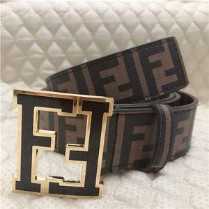 Men Genuine leather designer Letter printed belts women high quality Big buckles Fen̴di G Business F Jeans Fēndi Dress strap 23