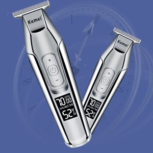Kemei Elektrikli Saç Kesme Lcd Ekran 0mm Erkekler Diy Sakal Baldheaded Giyotin Km 5027 Kemei Elektrik Ucuz homeindustry NzaxJ