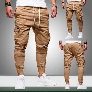 Januarysnow Männer Joggers Hosen Neue Casual Male Frachtjogginghose Solide Multi-Tasche Hip Hop Fitness Hosen Sportswear