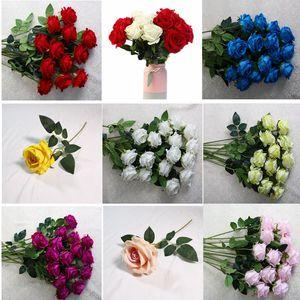 Fleur de mariage Simulation Velvet Rose Arrangement Arche Fleurs Hôtel Salon Décoration Simulation Rose Fleurs décoratives BWC529