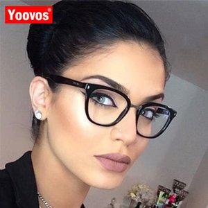 Yoovos 2020 Glasses For Women Women Luxury Eyeglasses Frames Retro Transparent Lens Plastic Eyewear Women Mirror Gafas De Mujer