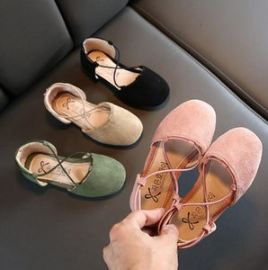 Spring and autumn 2020 children's fashion leisure girls' single shoe cover foot bag heel shoes fashion versatile shoes trend