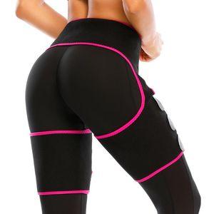Women Low Waist Thigh Trimmer Neoprene Sweat Shapewear Slimming Leg 3 in 1 Waist Shapers Elasticity Adjustable Trainer