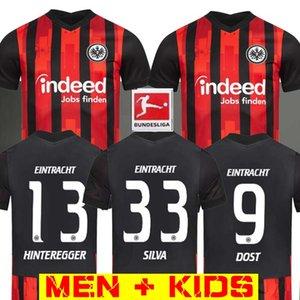 20 21 اينتراخت فرانكفورت لكرة القدم الفانيلة 2020 2021 فرانكفورت المنزل SILVA DOST HINTEREGGER PACIÊNCIA ABRAHAM MAN الفانيلة كرة القدم للأطفال