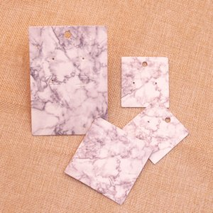 DIY handmade jewelry earring necklace packing card cute stud drop earring display card 100pcs per lot simple marble line tags ePacket