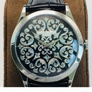S Fl Factory Carved Watches Automatic Mechanical Movement Cal .240 Watch 38 .6mm18k Platinum Case With Sapphire Crystal Glass
