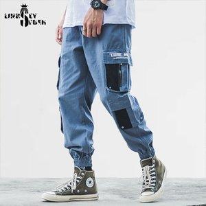 Lindsey Seader Hiphop Kargo Pantolon Streetwear Erkekler Harajuku Harem Pantolon Koşucular Casual Tatical Çok Parça Pantolon Cepler