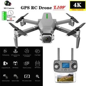 GPS Drone Com 5G Wifi FPV 4K HD Camera Brushless Quadrotor 25 minutos Tempo de vôo dobrável Dron L109 VS F11 SG906 K1