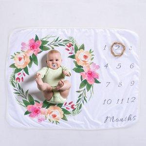 Baby blanket baby Growth milestone Anniversary blankets Newborn blanket Baby photo props photo growth souvenir blanket A06