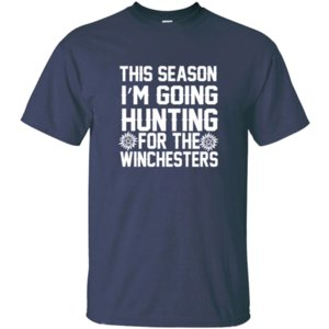 New Arrival Winchester - This Season I'm Going Hunting T Shirt Cool O Neck Homme Comic Men T-Shirts Short Sleeve Hip Hop