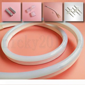 Super Bright 12V 2835 LED Flexible Neon Tube Strip Light Rope 8mm * 16mm 120LEDs m PVC IP67 Waterproof Outdoor for Club Front Window Sign