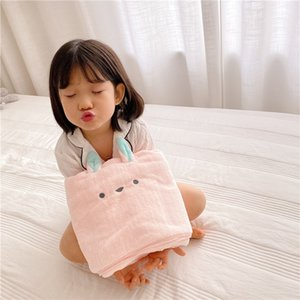 Cartoon Animal Quick-Drying Bath Towel Koala Children Water Absorption Towel Baby Swaddle Fluffy Plush Bedding Blanket