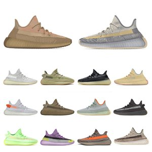 Schuhe yeezy kanye west boost Laufschuhe yeezys yezzy yeezes v2 2020 New Mens Womens Sports Sneakers KINDER Kinder israfil Asriel Eliada Earth Desert Sage Trainer Größe uns 13