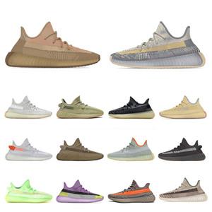 yeezy kanye west boost Scarpe da corsa yeezys yezzy yeezes v2 2020 New Mens Womens Sports Sneakers KIDS Childrens israfil Asriel Eliada Earth Desert Sage Trainers taglia us 13