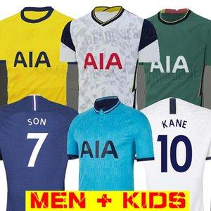 20 21 KANE SON BERGWIJN NDOMBELE لكرة القدم الفانيلة 2019 2020 2021 LUCAS DELE TOTTENHAM جيرسي لكرة القدم عدة رجال قميص وKIDS KIT لوريس SPURS
