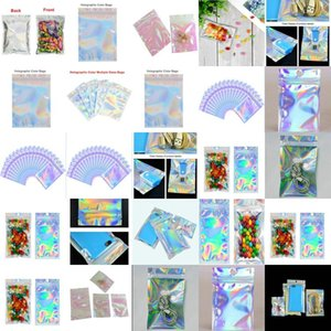 20X30Cm Resealable Clear Plastic Bags Holographic Resealable Bags Translucent Pouches Designs Dress Packaging Bag I5L8F bde2010 AaALF
