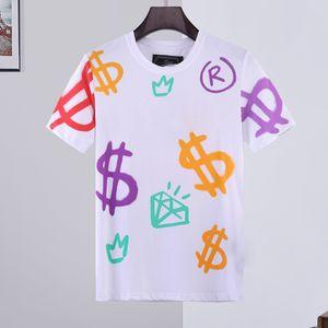 kaplan tasarımcı T Shirt Mans Yaz Temel Katı kristal baskı mektup marka tişört Casual Punk Tee lüks giyim kısa kollu M-3XL başında