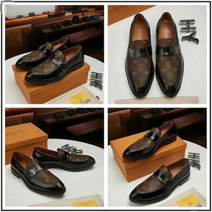 2020 Italian Designer Men Dress Shoes Embroidery Handmade Black Patent Leather Loafers Luxury Formal Wedding Flats Male Oxford Shoes