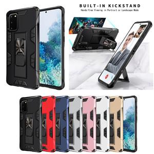Lusso Built-in Kickstand di caso per la galassia Note20 Note20 Inoltre Note9 Car armatura anello magnetico della copertura per Samsung S20 Inoltre S20Ultra S10Plus S9 S8
