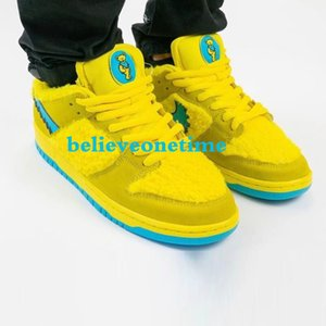 2020 new Grateful Dead Bears x SB Dunk Low Yellow Bear Designer Shoes Fashion Skateboarding Sneakers for men and women size 36-45