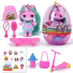 Сюрприз Кукла MGA Poopsie мягкий клей сюрприз силиконовый Unicorn Радуга LOLS куклы QQ яйца фигурку игрушки для девочек Подарки T200712