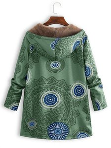 Women Coat Fashion Casual Printing Hooded Sweater for Womens Plush Long Sleeve Jackets Autumn Winter Plus Size S-5XL