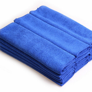 Blue Soft Absorbent Wash Cloth Car Towel Microfibre Car wash Cloth 70cm*30cm