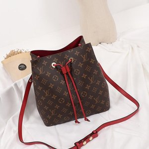 High Quality New Arrival Fashion Design Style Women Bags Leather Bucket Bag Handbag Drawstring Shoulder Bag Luxury Messenger Crossbody Bags
