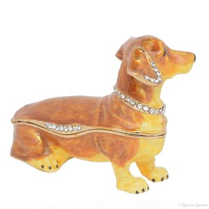Dachshund dog jewelry trinket box animal tabletop pewter ornament dog lover gift Home Accessories Gifts