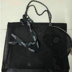 Classico sacchetto della spesa di grande capacità di alta capacità / inviare la borsetta di tromba e set di nastro / ladies lavaggio cosmetico stoccaggio beach bag borsa vip regalo