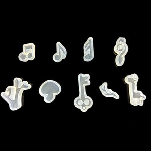 Reusable Musical Note Molds DIY Jewelry Silicone Mold Animal Jewelry Making DIY Handmade Music Note Cute Mushroom Fondant Mold BH3174 TQQ