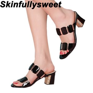 2020 New Women's Casual Sandals Summer Fashion Fish Mouth Thick Sandals Platform Heels Sexy Word Slippers High Heels Slippers