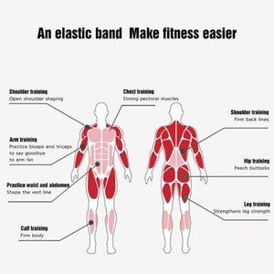 Exercice Ceinture 208cm Pull boucle Fit Simplifier Latex sac de transport des bandes d'entraînement physique Pilates Flexbands Training Therapy Force