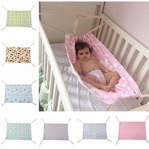 100 * 70cm Neugeborene Krippe Baby-Hängematte Baby-Hangmat gedruckt Travel tragbare Baby-Abnehmbare Bassinet Krippe Hammock 7 Styles Bett schlafen