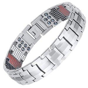 RainSo Male Bracelet Popular Fashion Dropshipping Bracelets & Bangles Charm Germanium Magnetic H Power Titanium Bracelet 2020