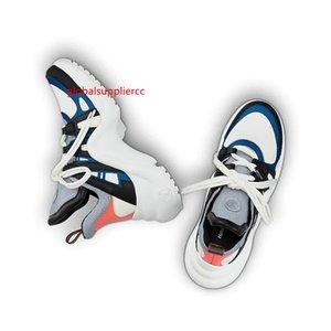 Basket Archlight Turnschuhe Chaussures Silber Silber Archlight weiße Monogramm-Spitze Flache Trainer-Turnschuh-Freizeitschuhe